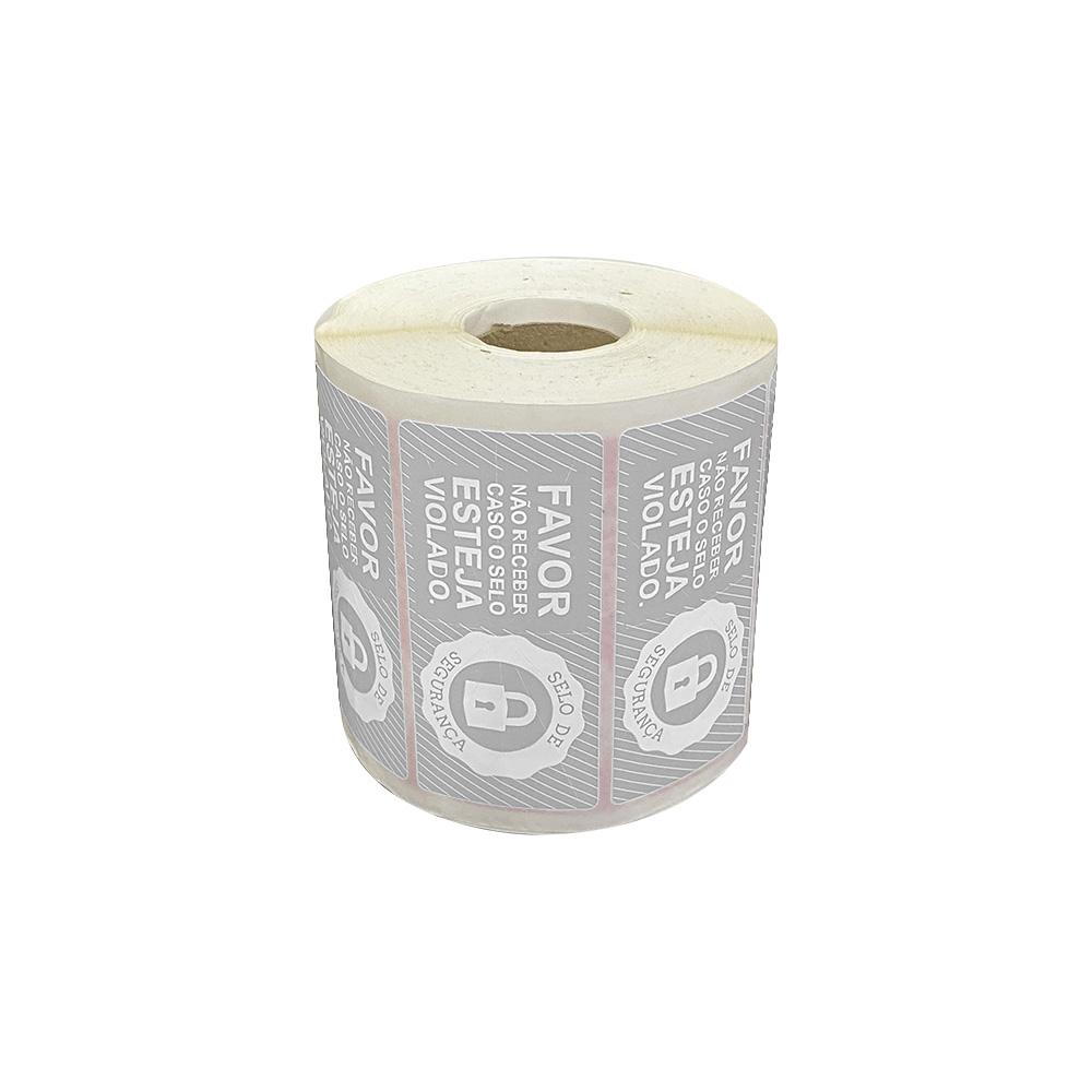 Etiquetas Adesivas Lacre Segurança Delivery iFood Alimentos Cinza  - Etiqueta Certa