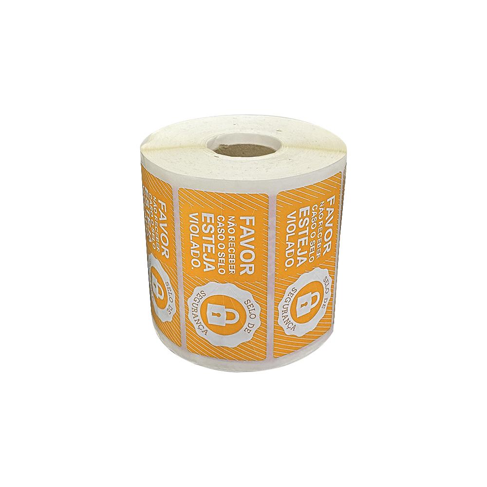 Etiquetas Adesivas Lacre Segurança Delivery iFood Alimentos Laranja  - Etiqueta Certa