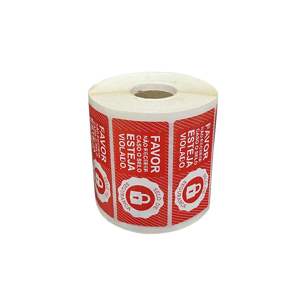 Etiquetas Adesivas Lacre Segurança Delivery iFood Alimentos Vermelha  - Etiqueta Certa