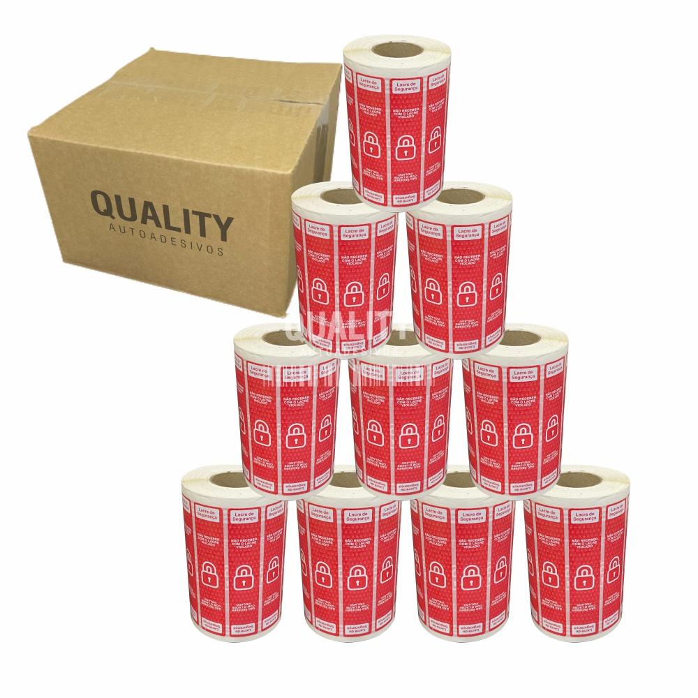 10 Rolos Etiqueta Lacre Segurança Delivery iFood Alimentos  - Etiqueta Certa