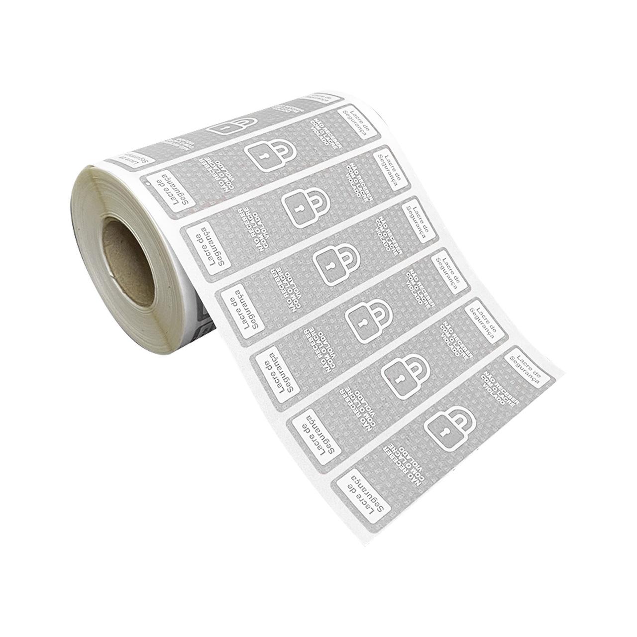 Kit 13 Rolos Etiqueta Lacre Segurança Delivery iFood Alimentos Cinza  - Etiqueta Certa