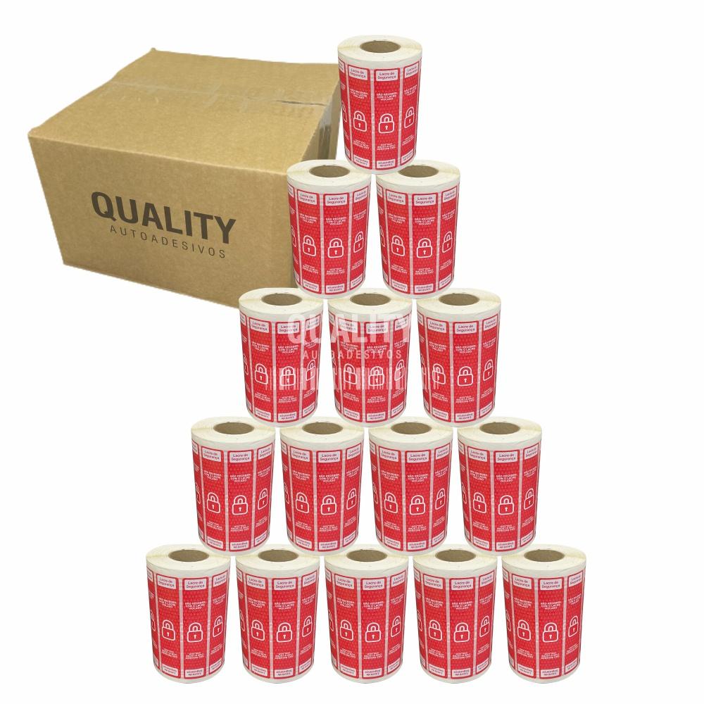 15 Rolos Etiqueta Lacre Segurança Delivery iFood Alimentos  - Etiqueta Certa