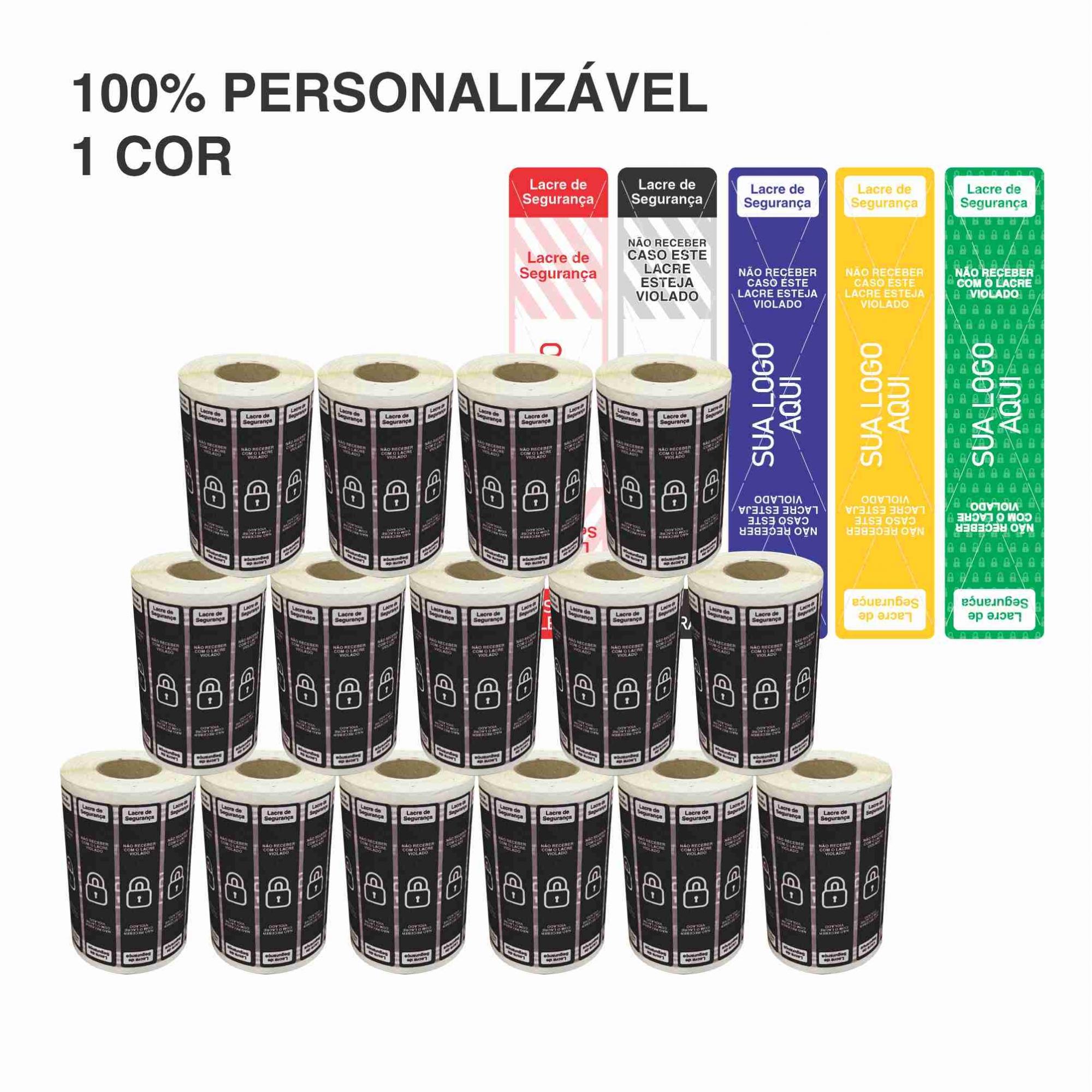 15 Rolos Etiqueta Lacre Delivery Personalizada iFood Rappi  - Etiqueta Certa