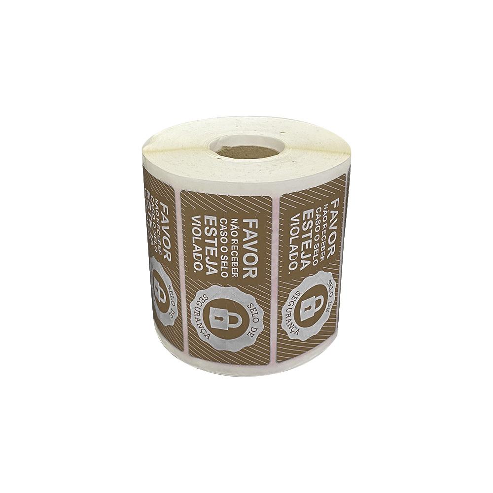 5 Rolos Etiqueta Lacre Segurança Delivery iFood Rappi Alimentos  - Etiqueta Certa