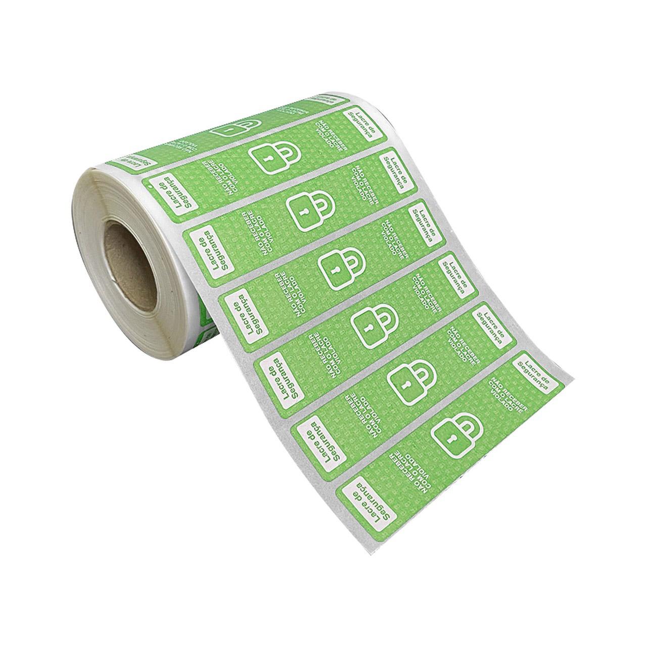 Etiquetas Adesivas Lacre Segurança Delivery iFood Alimentos Verde  - Etiqueta Certa