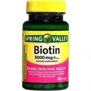Biotina 5,000 mcg Spring Valley - 120 Softgel