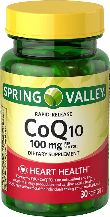 CoQ10 Spring Valley  Rapid Release, 100mg, 30 Cápsulas  - Rei do Wod