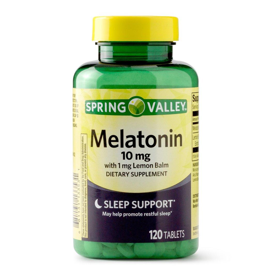 Melatonina - Spring Valley - 10mg - 120 Cápsulas  - Rei do Wod