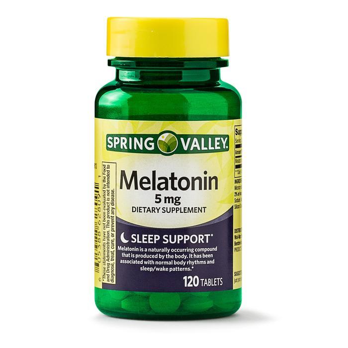 Melatonina - Spring Valley - 5mg - 120 Cápsulas  - Rei do Wod