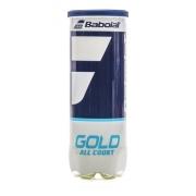 Bola De Tênis Babolat Gold All Court Tubo Com 3 Bolas