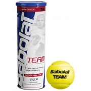 Bola De Tênis Babolat Team Tubo Com 3 Bolas