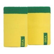 Munhequeira Nike Brasil Verde E Amarela - Par