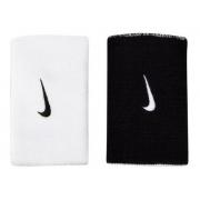 Munhequeira Nike Dri-fit Dupla Face Branco E Preto