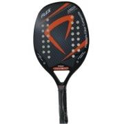 Raquete Beach Tennis Procópio Flex - Preta Com Laranja