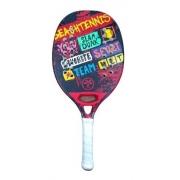 Raquete De Beach Tennis Turquoise Concept Red
