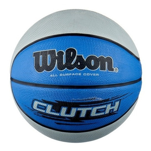 Bola De Basquete Wilson Clutch - Azul E Cinza