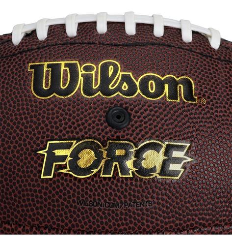 Bola De Futebol Americano Wilson Nfl Force Junior Natural