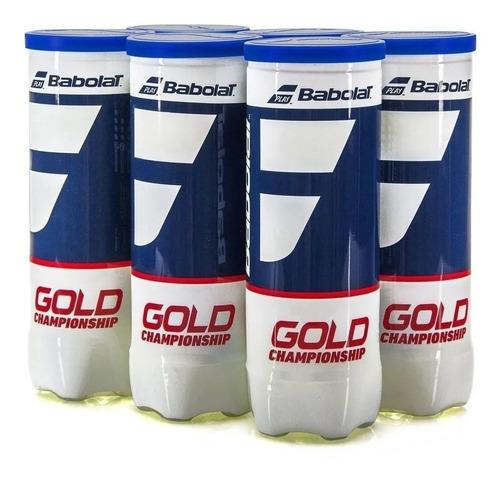 Bola De Tênis Babolat Gold Championship Pack C/ 6 Tubos