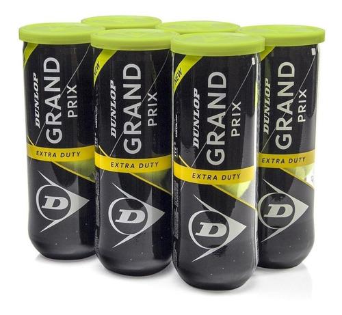 Bola De Tênis Dunlop Grand Prix Pack C/ 06 Tubos