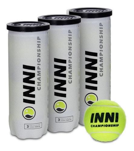 Bola De Tênis Inni Championship - 3 Tubos C/ 3 Bolas