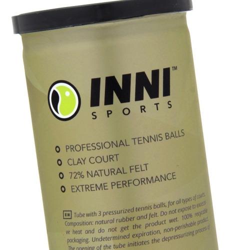 Bola De Tênis Inni Grand Clay Caixa C/24 Tubos