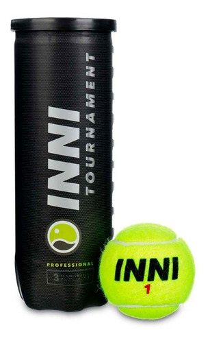 Bola De Tênis Inni Tournament Tubo Com 3 Bolas