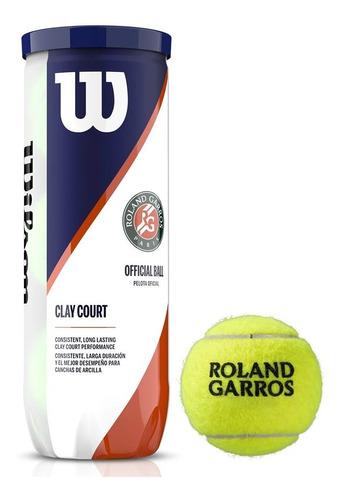 Bola De Tênis Wilson Roland Garros Tubo Com 3 Bolas