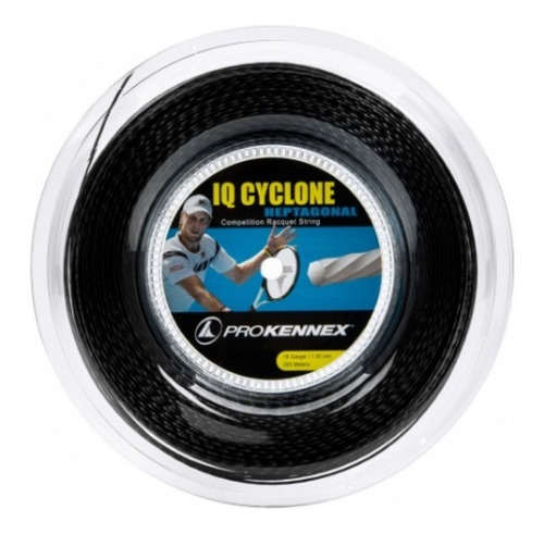 Corda Prokennex Iq Cyclone Heptagonal 16l 1.30mm Preta