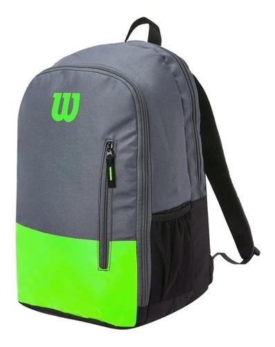 Mochila Wilson Team Verde E Cinza Modelo 2021