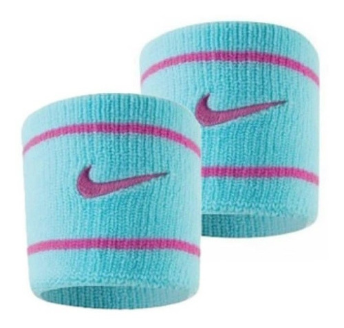 Munhequeira Curta Nike Dri-fit - Azul Claro E Rosa