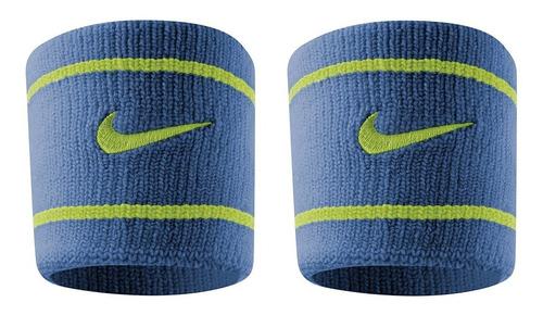 Munhequeira Dri-fit Nike Curta Azul E Verde