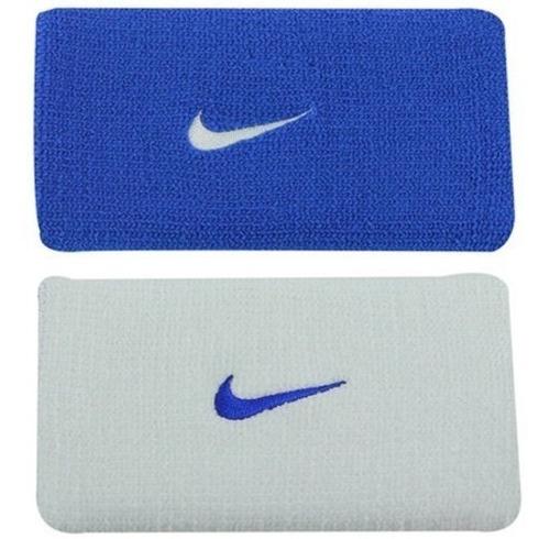 Munhequeira Nike Dri-fit Azul E Branco