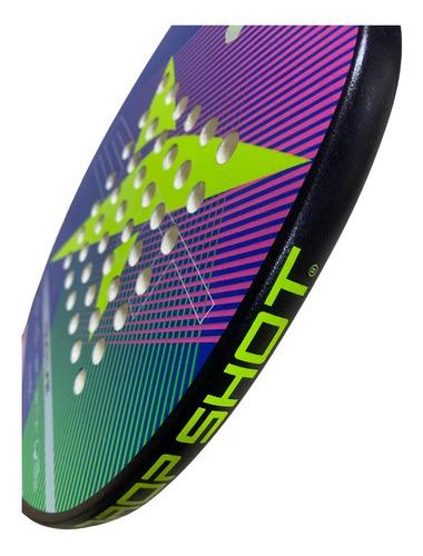 Raquete Beach Tennis Drop Shot Touch Lime - Fibra De Vidro