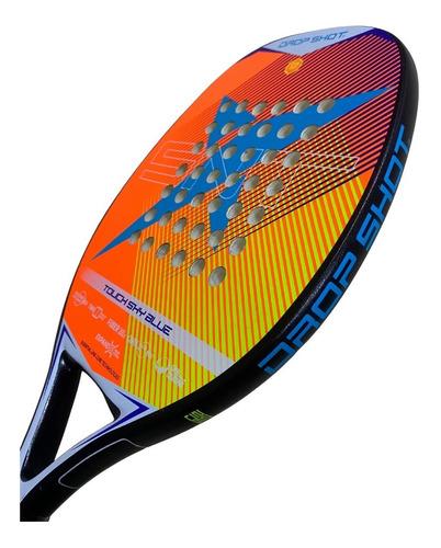 Raquete Beach Tennis Drop Shot Touch Shy Blue - Fiberglass