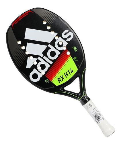 Raquete De Beach Tennis adidas Rx H14 Preta Branca E Limão