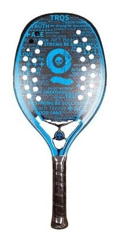 Raquete De Beach Tennis Turquoise Black Death 10.2 Blue