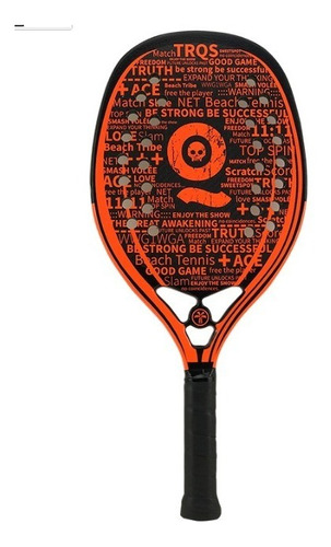 Raquete De Beach Tennis Turquoise Black Death 10.2 Orange