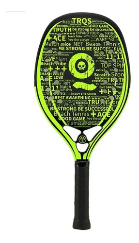 Raquete De Beach Tennis Turquoise Black Death Acid Green