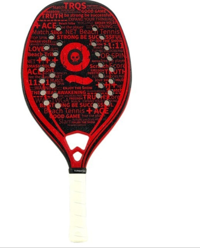Raquete De Beach Tennis Turquoise Black Death Challenge Red