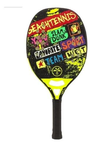 Raquete De Beach Tennis Turquoise Concept Yellow