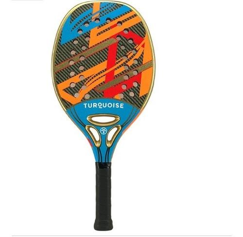 Raquete De Beach Tennis Turquoise Revolution 2.1 - Blue
