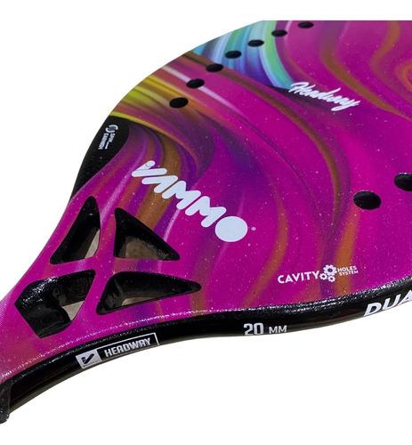 Raquete De Beach Vammo Headway - Carbono 3k - Rosa