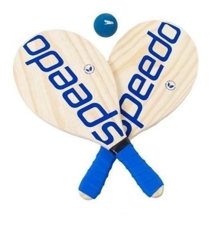 Raquete Frescobol Speedo - 2 Raquetes E 1 Bola - Azul
