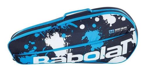 Raqueteira Babolat Club Essential X3 Preto / Azul / Branco