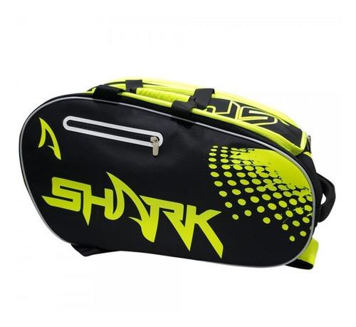 Raqueteira De Beach Tennis Shark Preta E Amarela