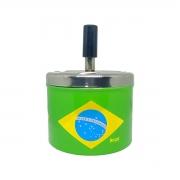 Cinzeiro Metal Estampado BRASIL Redondo