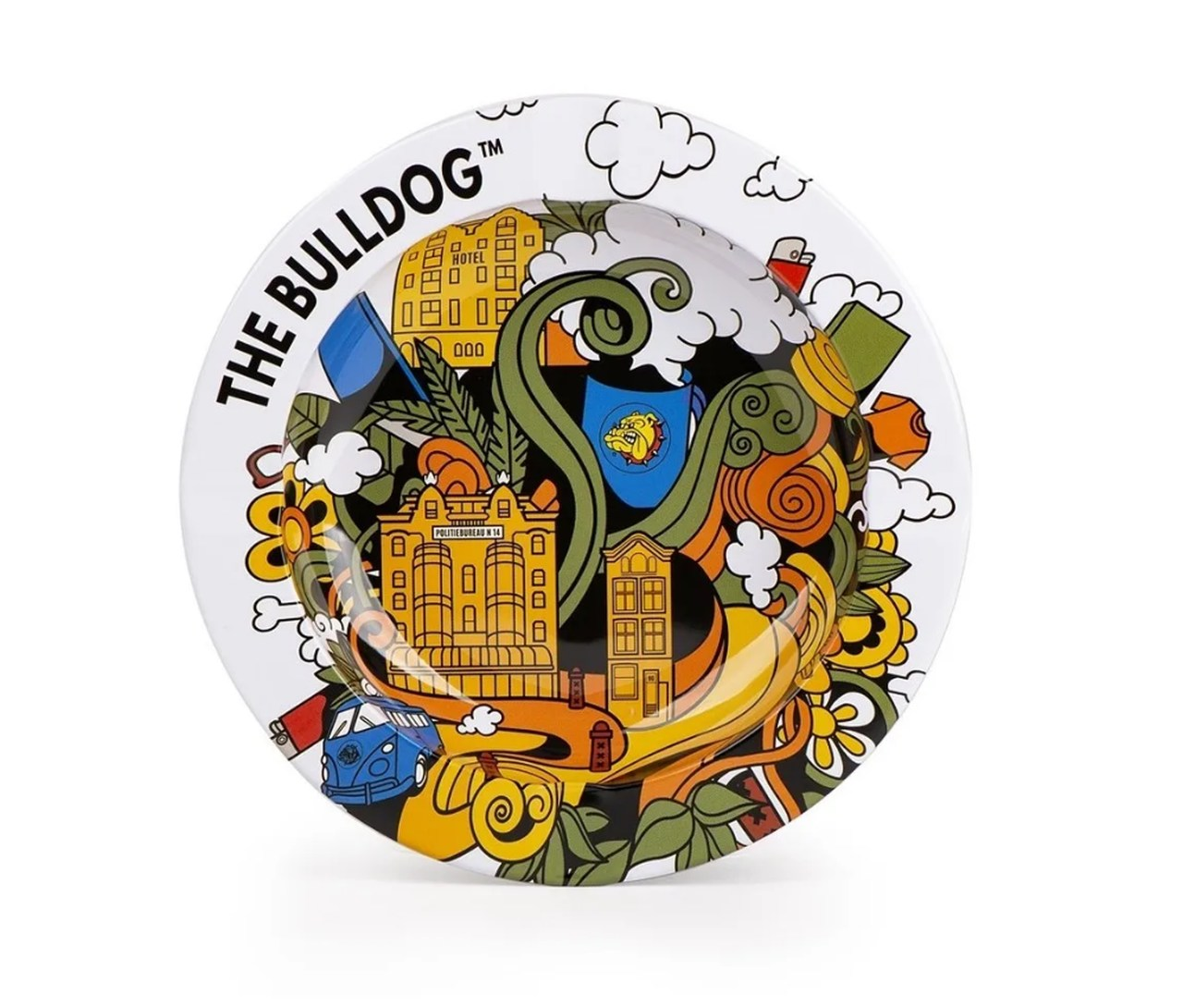 Cinzeiro Alumínio The Bulldog Amsterdam BRANCO