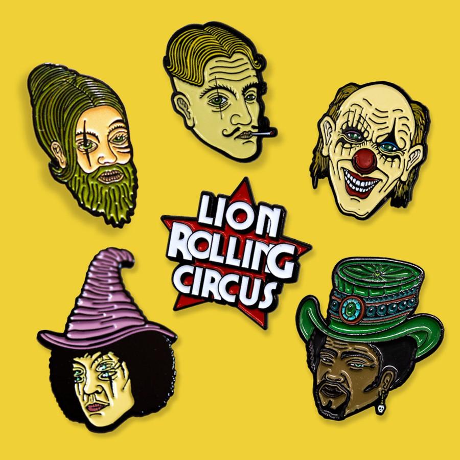 Dichavador Lion Rolling Circus 3 Partes Acrilico