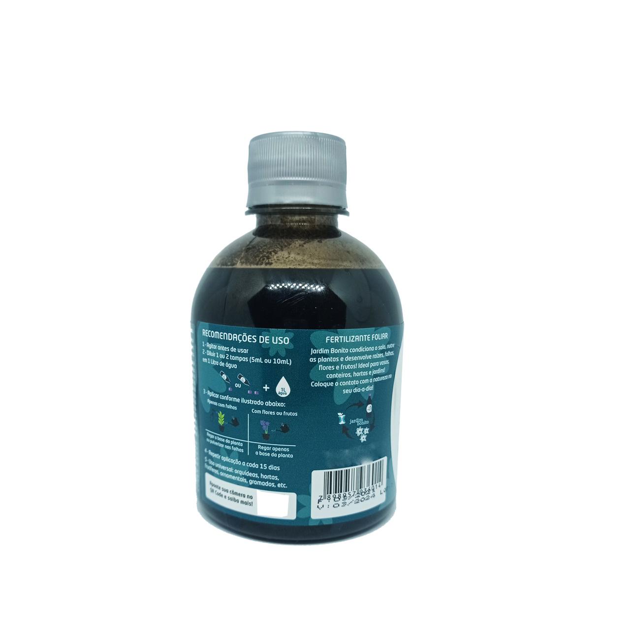 JARDIM BONITO EMBALAGEM PLASTICA 250 ML