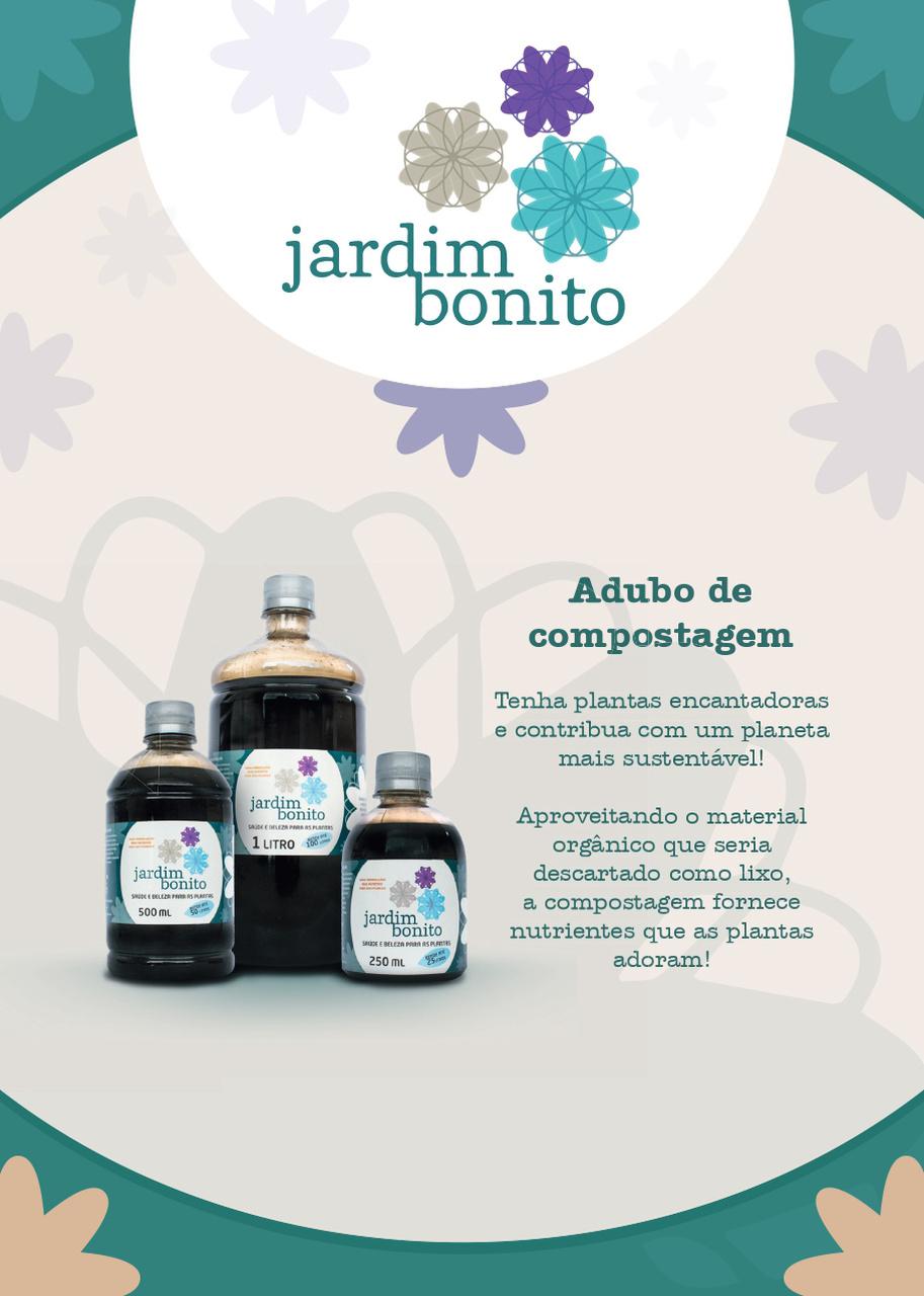 JARDIM BONITO EMBALAGEM PLASTICA 500ML.